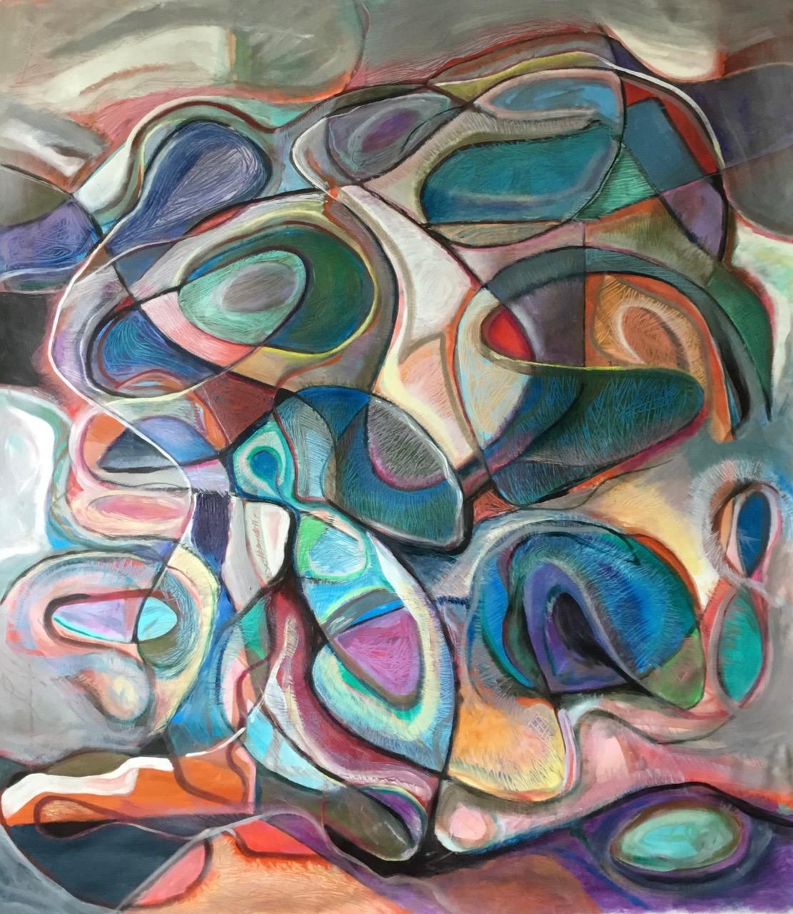 Autumnwind 42x51 acrylic on canvas