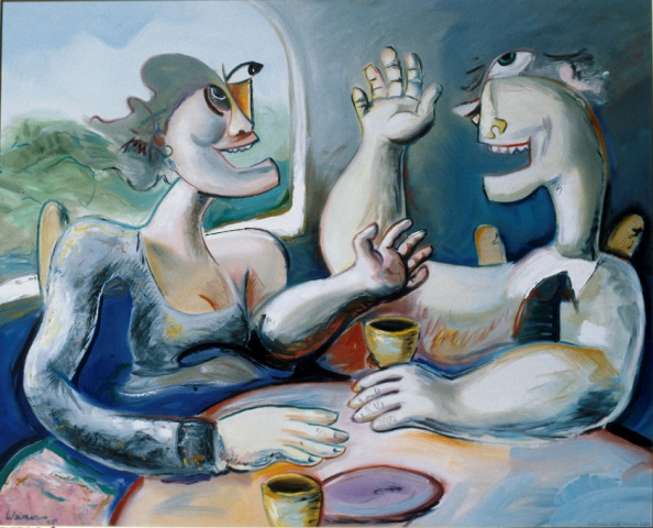 Laughter 48x36 oil on canvas, private collection