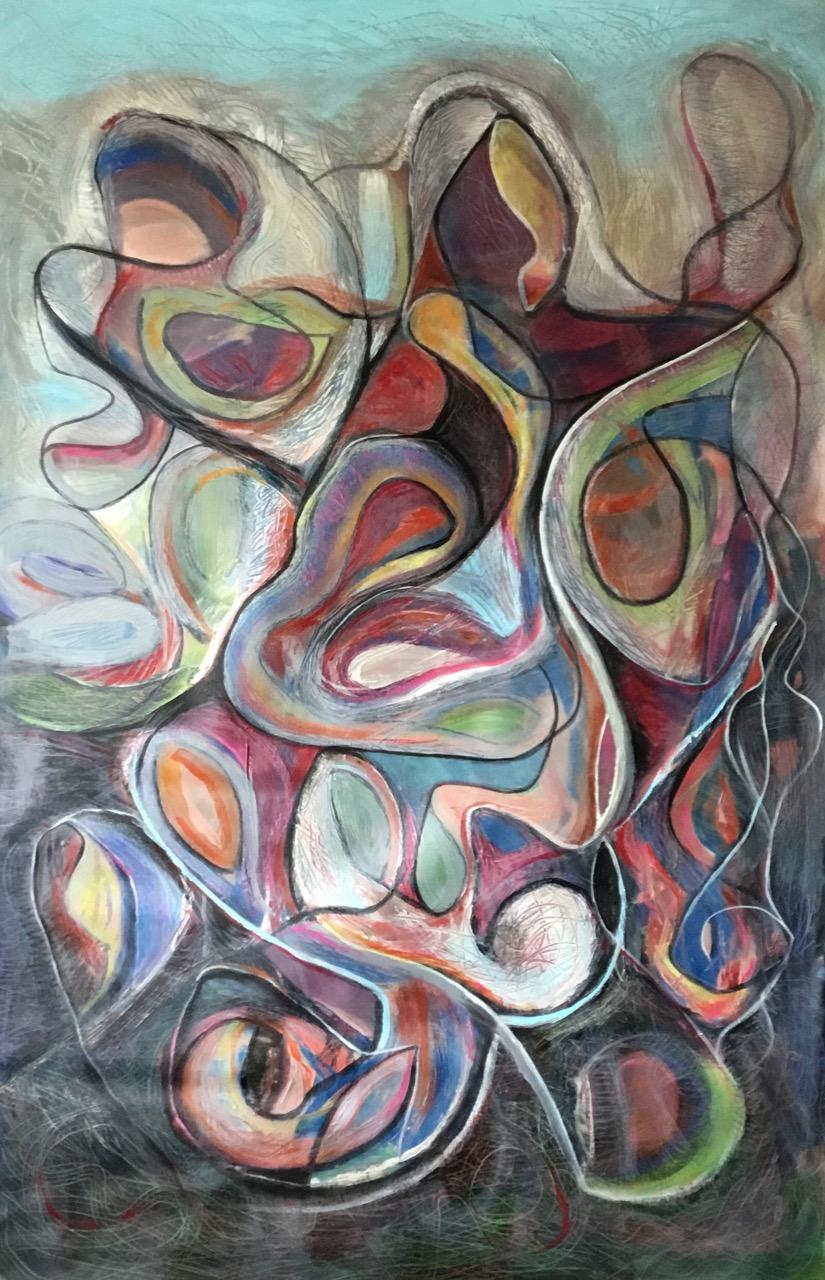 Garden Dream 33x49 acrylic on canvas