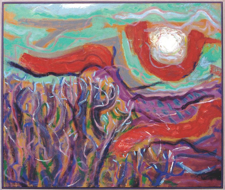 Catching the Sun 40x30 acrylic on canvas