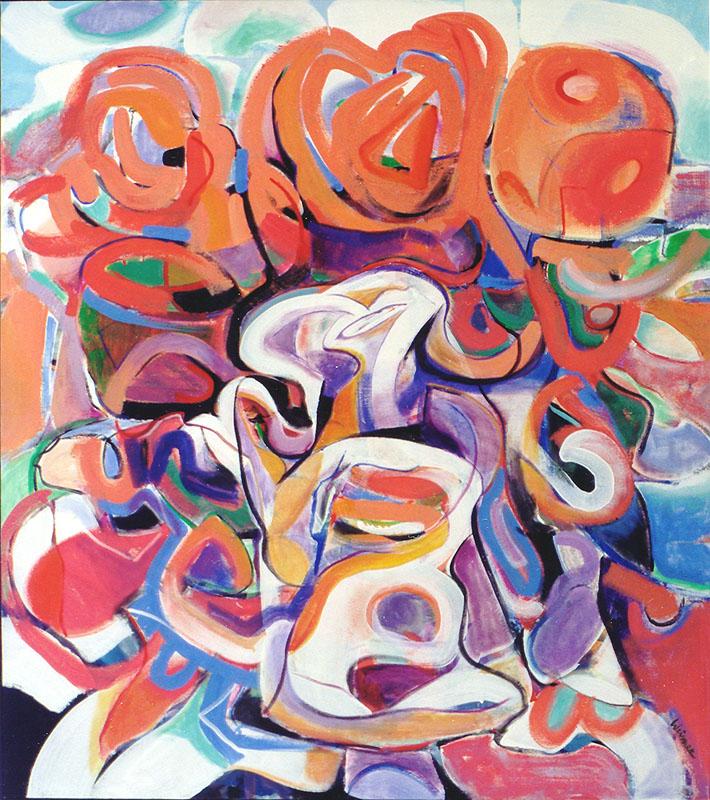 Bloom 46x52 acrylic on canvas