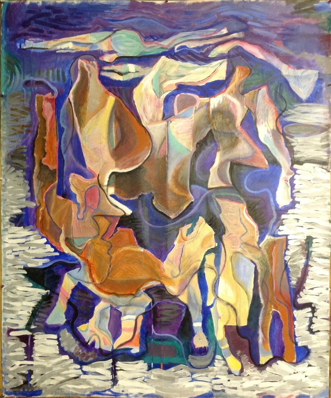 Winter Holiday 42x51 acrylic on canvas