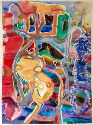 Cactus, watercolor