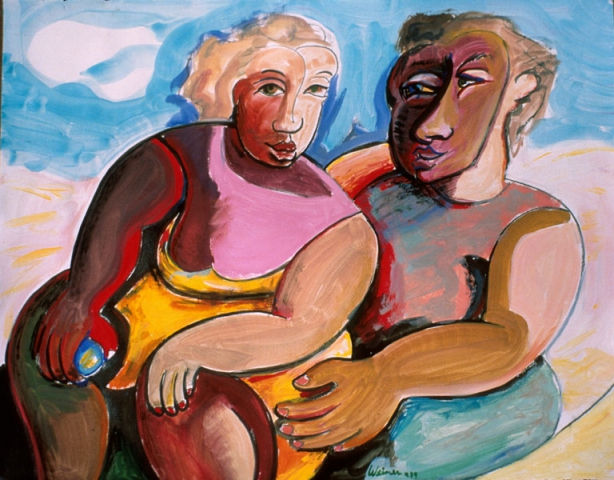 Happy Couple 24x19 tempera, private collection