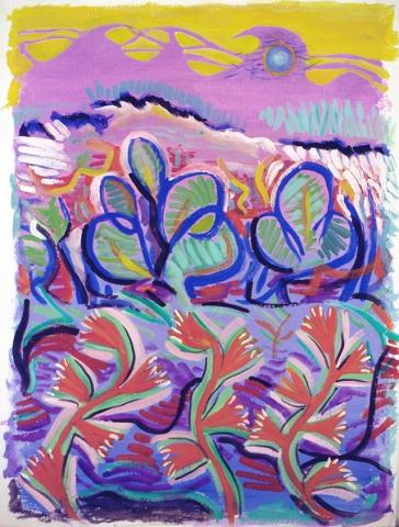 Flowers 18x23 gauche